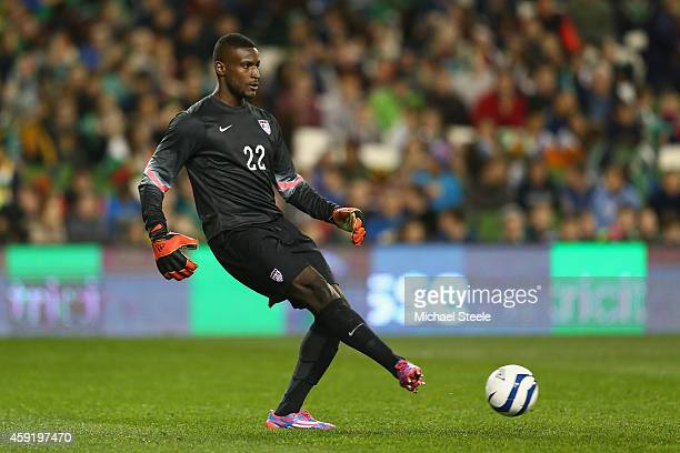 Bill Hamid of USA during the International Friendly match between the Republic of Ireland and USA at the Aviva Stadium on November 18 2014 in Dublin...