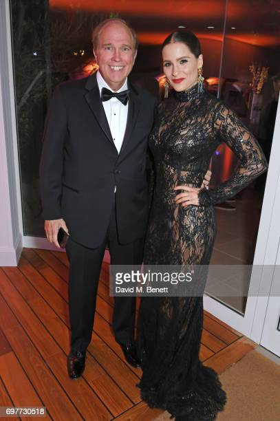 Bill Heavener and Gianna Simone attend the Vanity Fair and Chopard Party celebrating the Cannes Film Festival at Hotel du CapEdenRoc on May 20 2017...