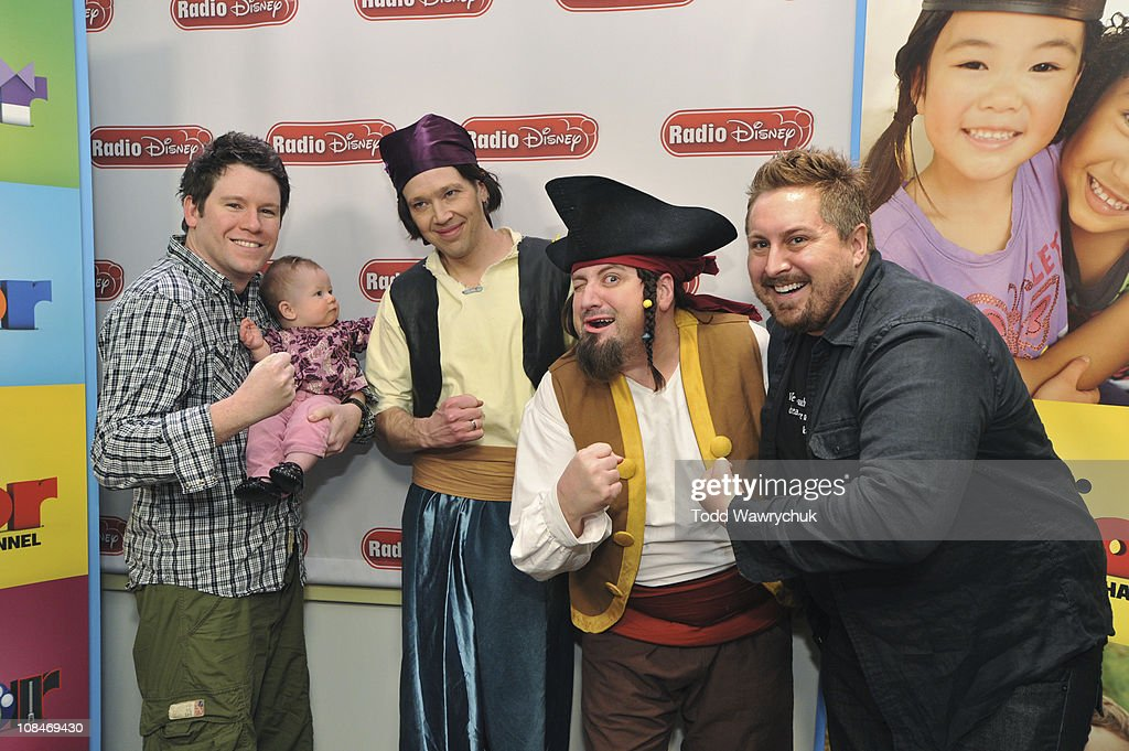 JUNIOR - Bill Horn and Scout Masterson, along with their daughter Simone Masterson-Horn, rocked out with The Never Land Pirate Band from Disney Junior's upcoming animated series 'Jake and the Never Land Pirates' during an exclusive event at Radio Disney on Wednesday, January 26. 'Jake and the Never Land Pirates' premieres February 14 with the debut of the new Disney Junior block on Disney Channel. (Photo by Todd Wawrychuk/Disney XD via Getty Images)BILL HORN, Simone Masterson-Horn, KEVIN