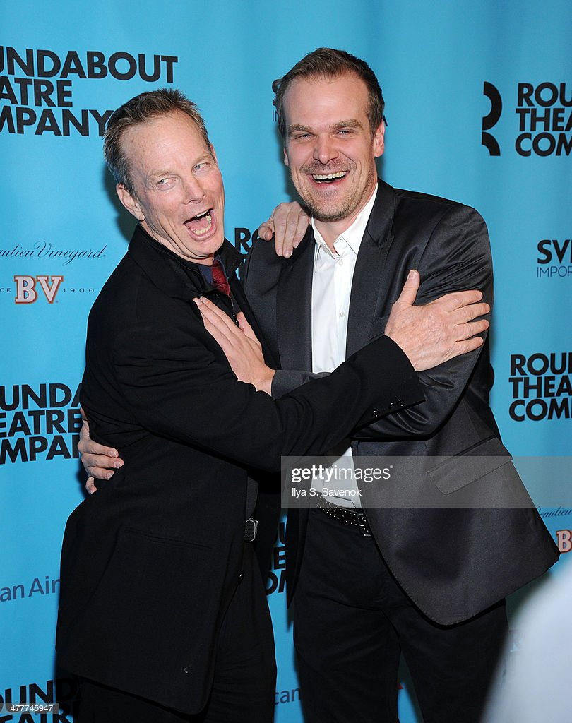 <a gi-track='captionPersonalityLinkClicked' href=/galleries/search?phrase=Bill+Irwin&family=editorial&specificpeople=213628 ng-click='$event.stopPropagation()'>Bill Irwin</a> and David Harbour attend Roundabout Theatre Company's 2014 Spring Gala at Hammerstein Ballroom on March 10, 2014 in New York City.