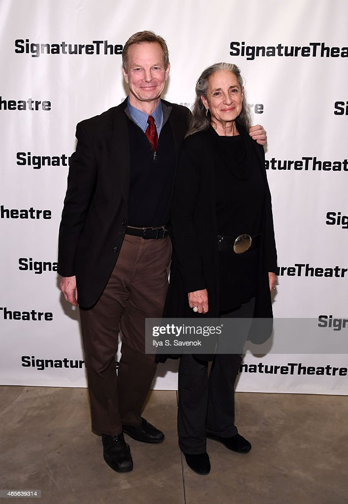 Bill Irwin (L) and his wife attend 'The Liquid Plane' Opening Night Party at Signature Theatre Company's The Pershing Square Signature Center on March 8, 2015 in New York City.