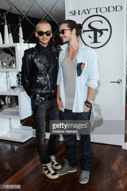 Bill Kaulitz and Tom Kaulitz attend SHAY TODD 2014 Swimwear And Resortwear Collection Preview at The Residences At W Hollywood on July 31 2013 in...