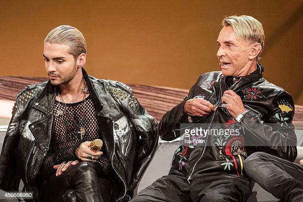 Bill Kaulitz and Wolfgang Joop attend Wetten dass from Erfurt on October 04 2014 in Erfurt Germany