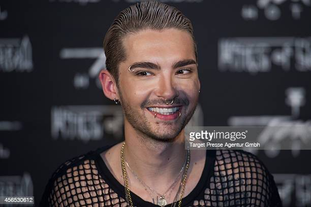 Bill Kaulitz attends the Tokio Hotel Press conference and photocall at Babylon on October 2 2014 in Berlin Germany The new Tokio Hotel record 'Kings...