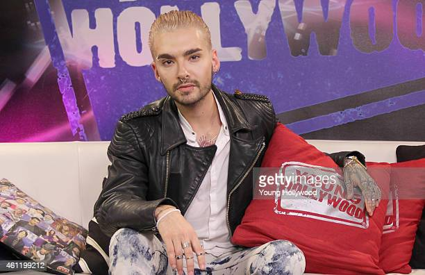 Bill Kaulitz from the band Tokio Hotel visits the Young Hollywood Studio on January 8 2015 in Los Angeles California