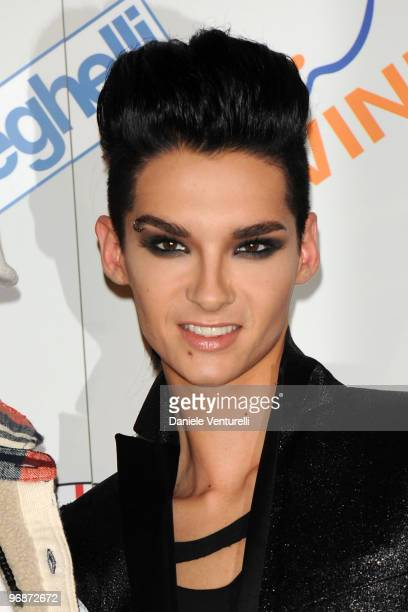 Bill Kaulitz of Tokio Hotel attends the 60th San Remo Song Festival 2010 Photocall Day 4 on February 19 2010 in San Remo Italy