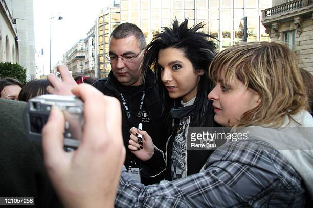 Bill Kaulitz of 'Tokio Hotel' during German Boy Band 'Tokio Hotel' Sighting in Paris November 27 2006 at Paris in Paris France