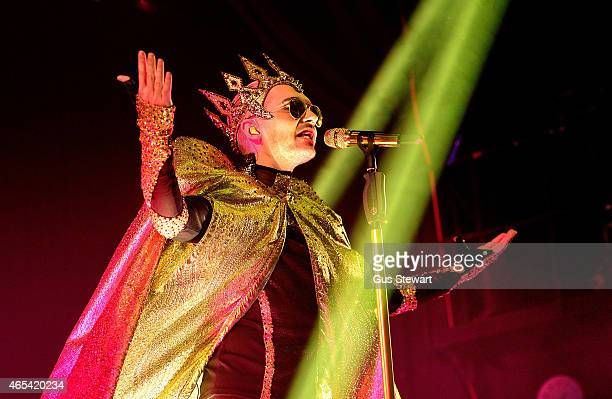 Bill Kaulitz of Tokio Hotel performs on stage at Islington Assembly Hall on March 6 2015 in London United Kingdom