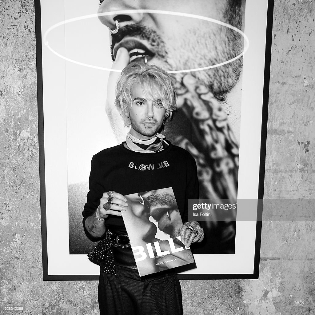 <a gi-track='captionPersonalityLinkClicked' href=/galleries/search?phrase=Bill+Kaulitz&family=editorial&specificpeople=816152 ng-click='$event.stopPropagation()'>Bill Kaulitz</a>, singer of the band Tokio Hotel during the photo art exhibition and book launch of BILLY at Seven Star Gallery on May 4, 2016 in Berlin, Germany.