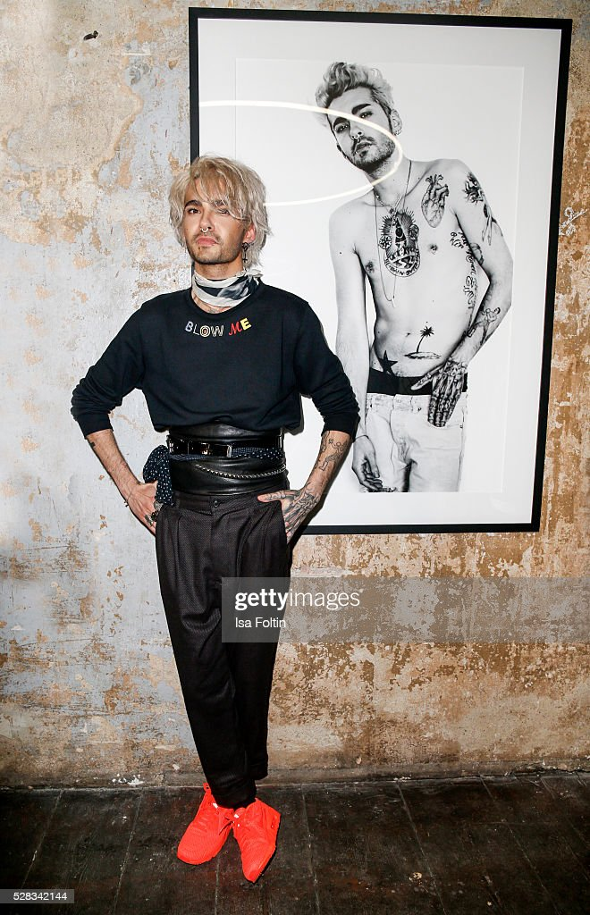 Bill Kaulitz, singer of the band Tokio Hotel during the photo art exhibition and book launch of BILLY at Seven Star Gallery on May 4, 2016 in Berlin, Germany.