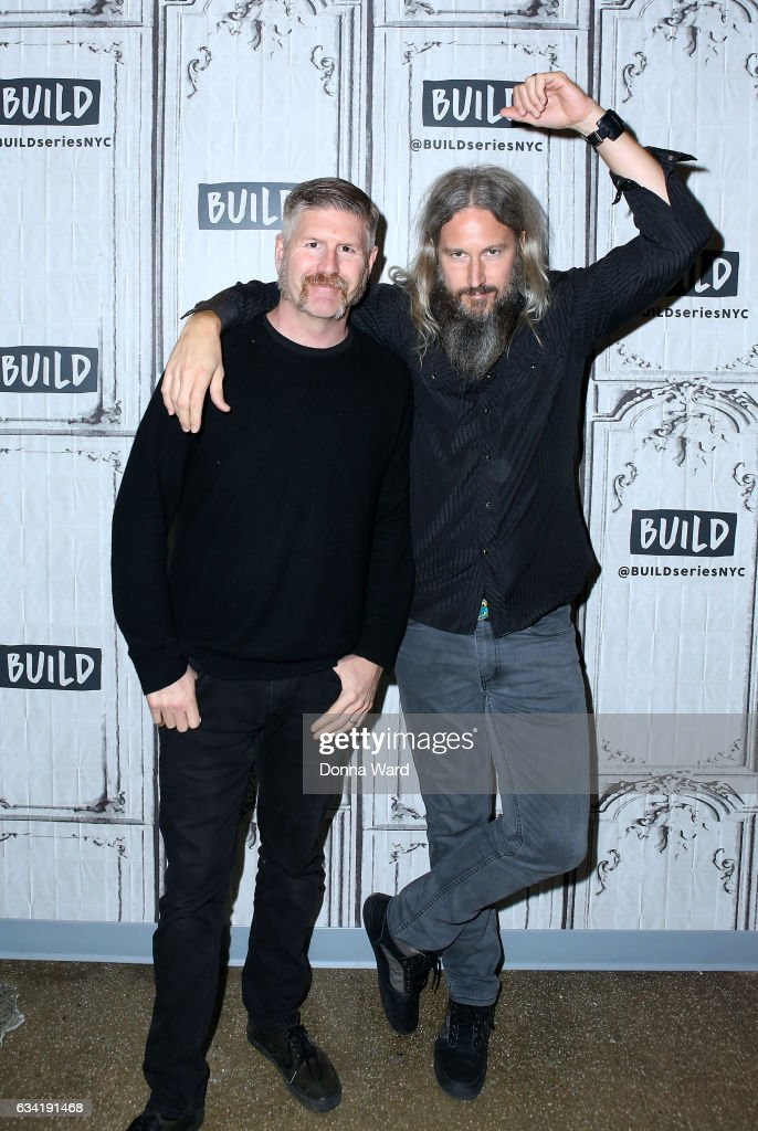 Bill Kelliher and Troy Sanders of Mastodon appear to promote 'Emperor of the Sand' during the BUILD Series at Build Studio on February 7, 2017 in New York City.