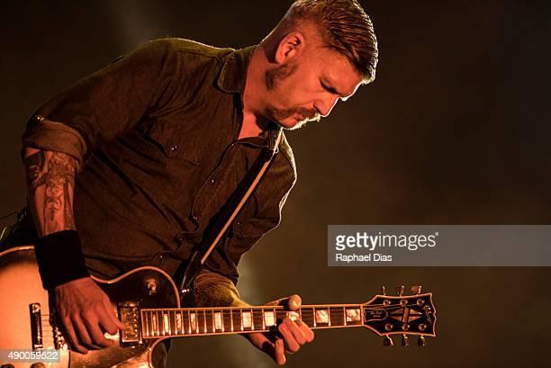Bill Kelliher from Mastodon performs at 2015 Rock in Rio on September 25 2015 in Rio de Janeiro Brazil