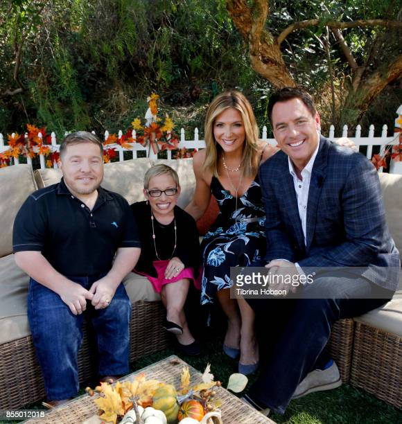 Bill Klein Dr Jen Arnold Debbie Matenopoulos and Mark Steines talk on the set of Hallmark's 'Home and Family' at Universal Studios Hollywood on...