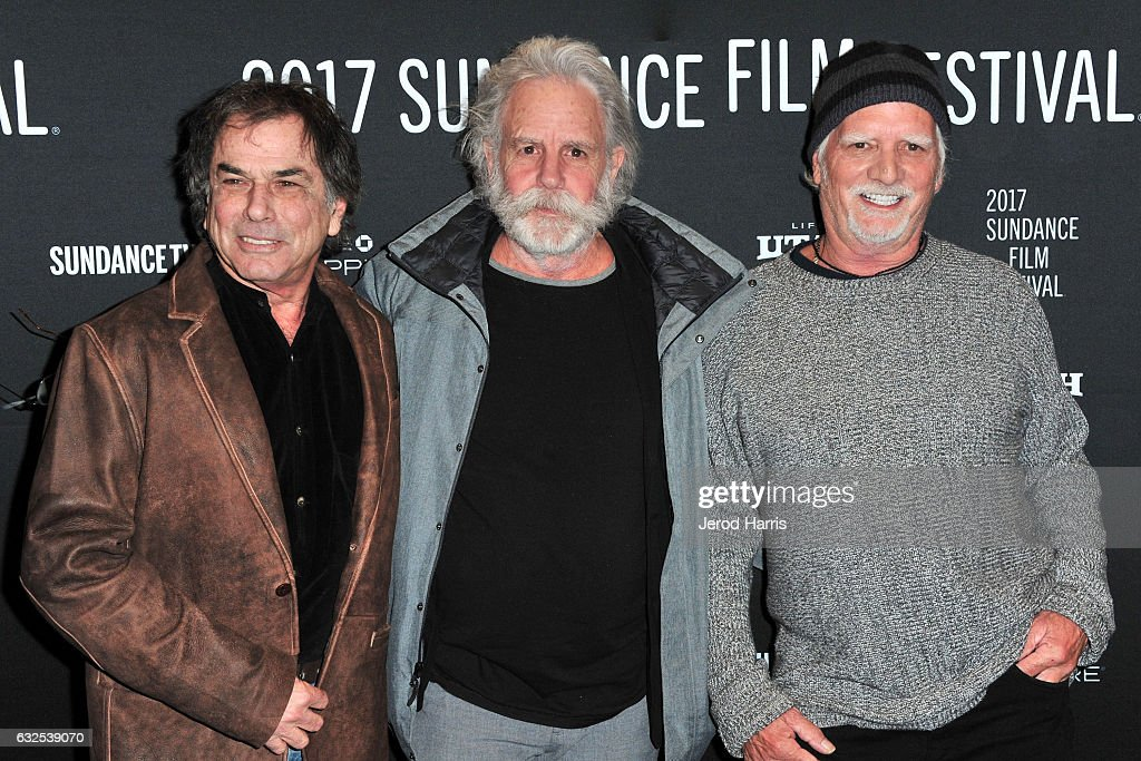 Bill Kreutzmann, Bob Weir and Mickey Hart of the Grateful Dead arrive at the 'Long Strange Trip' Premiere at Yarrow Hotel Theater on January 23, 2017 in Park City, Utah.