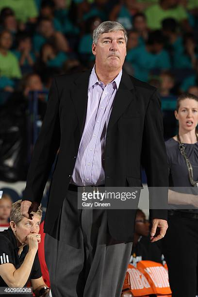 Bill Laimbeer head coach of the New York Liberty during the game against the Chicago Sky on May 18 2014 at Allstate Arena in Rosemont Illinois NOTE...