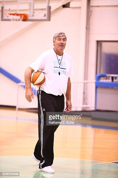 Bill Laimbeer of the New York Liberty coaches during an All Access practice at the Madison Square Garden Training Facility on May 3 2016 in Tarrytown...