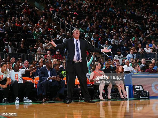 Bill Laimbeer of the New York Liberty during the game against the Minnesota Lynx on May 31 2016 at Madison Square Garden in New York New York NOTE TO...