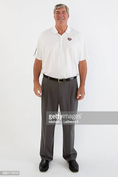 Bill Laimbeer of the New York Liberty poses for a portrait during media day on May 09 2016 at Madison Square Garden Training Center in Tarrytown New...