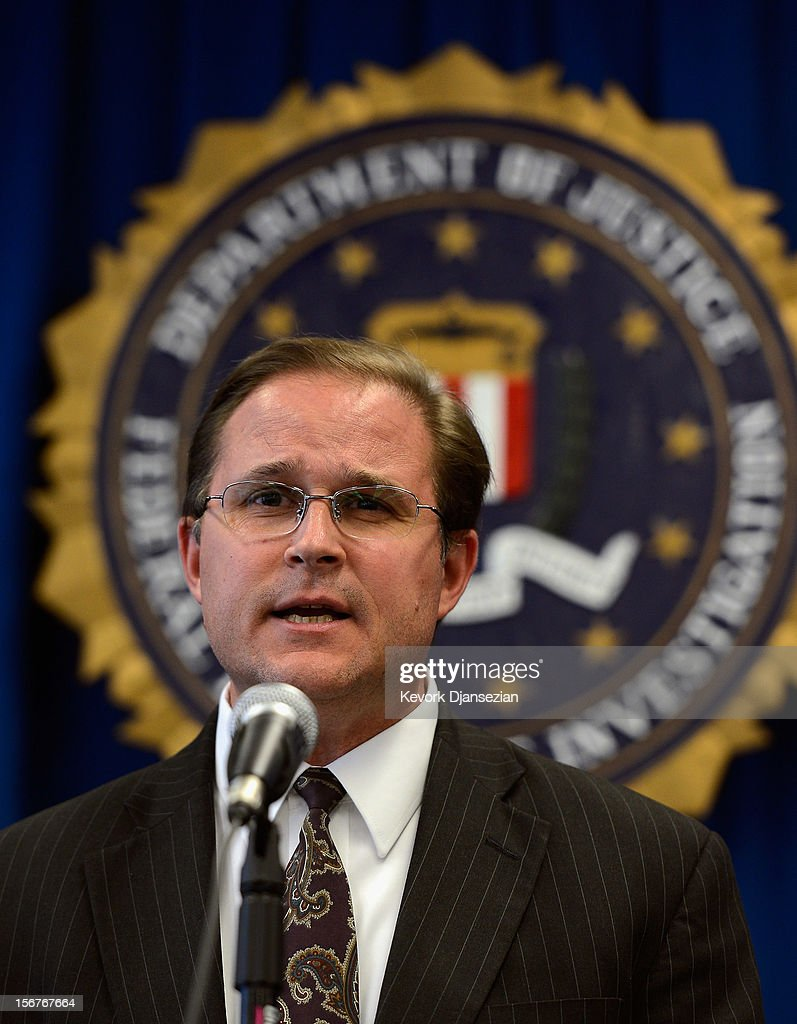 Bill Lewis, assistant director in charge of FBI Los Angeles field office, speaks during a news conference to announce the arrest of four people from Southern California on terrorism charges on November 20, 2012 in Los Angeles, California. The four men, Sohiel Omar Kabir, Ralph Deleon, Miguel Alejandro Santana Vidriales and Arifeen David Gojali were charged for their roles in a plot to provide material support to terrorists by making arrangements to join Al-Qaeda and the Taliban in Afghanistan in order to kill, among others, American targets in foreign country.