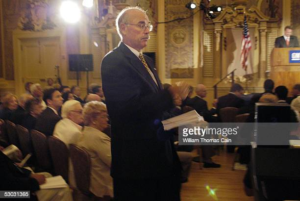 Bill Lowther of Wilmington Delaware collects ballots from shareholders during General Motors 2005 Annual Shareholders Meeting June 7 2005 in...