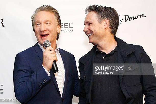 Bill Maher and Founder of DuJour Media Group Jason Binn attend a DuJour Magazine celebration of 12 seasons of REAL TIME with Bill Maher at UPDOWN...