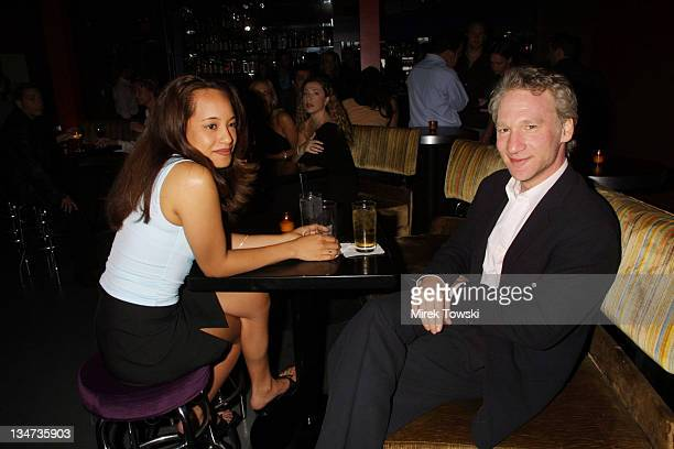 Bill Maher and guest during Tommy Hilfiger Party at Moomba in West Hollywood California United States