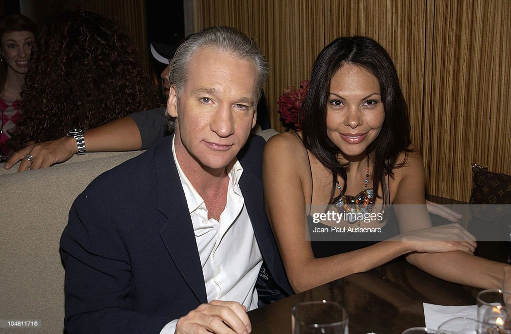 Bill Maher & Audra Wise during Frederick's of Hollywood Red Party at Falcon in Hollywood, California, United States.