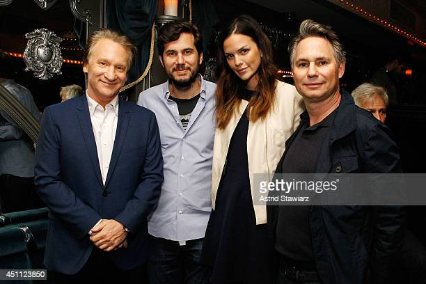 Bill Maher Scott Sartiano Allie Rizzo and Jason Binn attend a DuJour Magazine celebration of 12 seasons of REAL TIME with Bill Maher at UPDOWN...