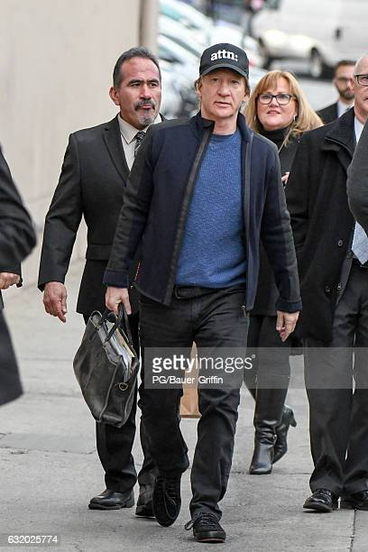 Bill Maher seen at Jimmy Kimmel Live on January 18 2017 in Los Angeles California
