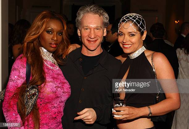 Bill Maher with Coco Johnsen and Devin Devesquez