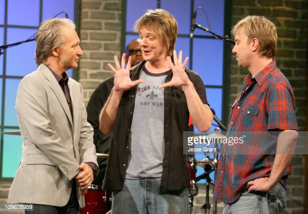 Bill Maher with Soul Asylum during Amazoncom 'Fishbowl with Bill Maher' Ivan Reitman July 20 2006 at VPS Studios in Hollywood California United States