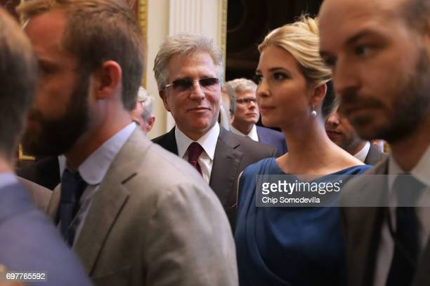 Bill McDermott and Ivanka Trump attend the inaugural meeting of the American Technology Council during the inaugural meeting of the American...