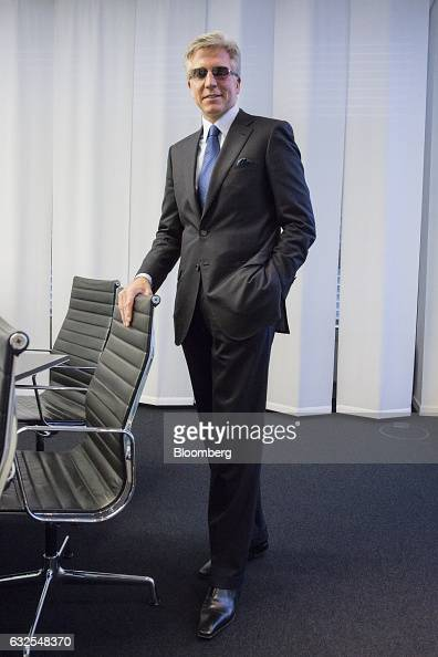 Bill McDermott chief executive officer of SAP SE poses for a photograph ahead of a news conference to announce the company's fourthquarter results in...
