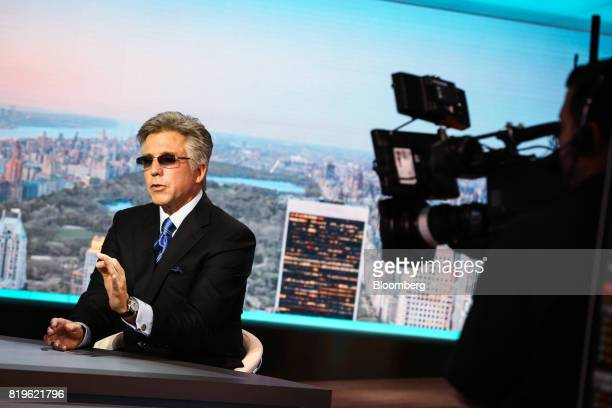 Bill McDermott chief executive officer of SAP SE speaks during a Bloomberg Television interview in New York US on Thursday July 20 2017 McDermott...