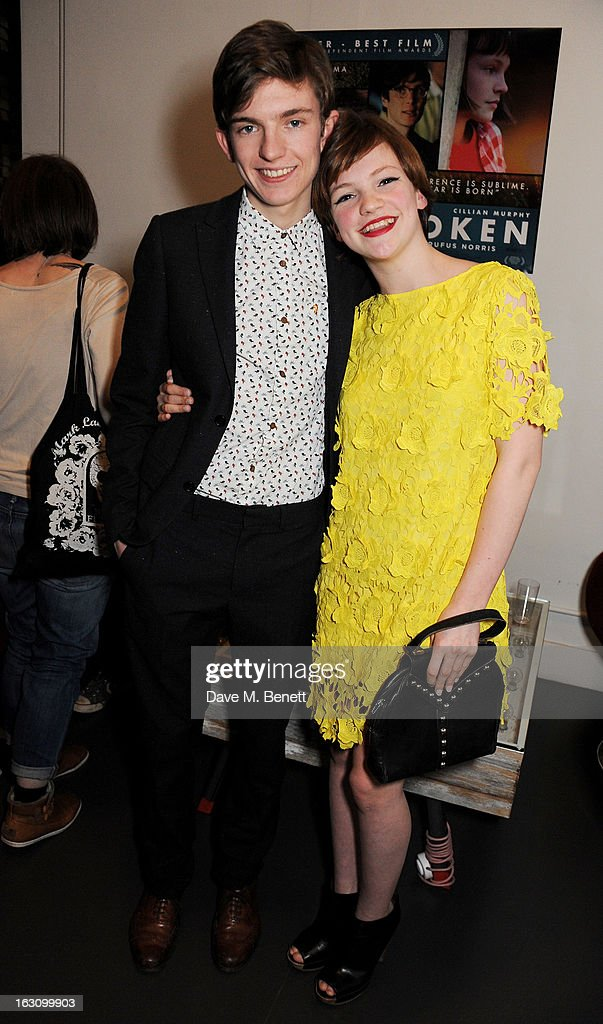 Bill Milner (L) and Eloise Laurence attend the UK premiere of 'Broken' at the Hackney Picturehouse on March 4, 2013 in London, England.
