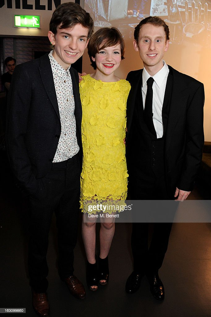 Bill Milner, Eloise Laurence and Robert Emms attend the UK premiere of 'Broken' at the Hackney Picturehouse on March 4, 2013 in London, England.