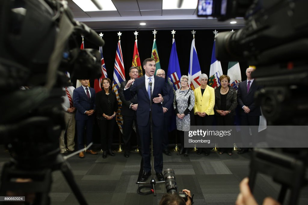 Canadian Finance Minister Bill Morneau Holds Press Conference