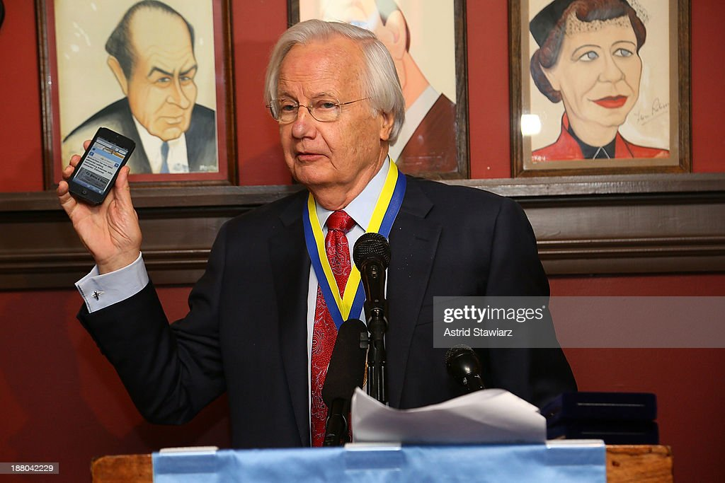 Bill Moyers attends The Deadline Club's New York Journalism Hall of Fame 2013 Luncheon at Sardi's on November 14, 2013 in New York City.