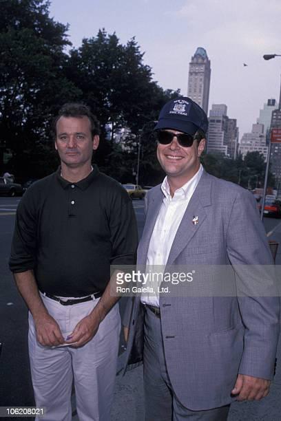 Bill Murray and Dan Aykroyd during Bill Murray and Dan Aykroyd Sighting at Essex House June 11 1989 at Essex House in New York City New York United...
