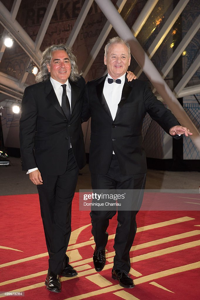 Bill Murray and Mitch Glazer attend the Opening Ceremony of the15th Marrakech International Film Festival on December 4 2015 in Marrakech Morocco
