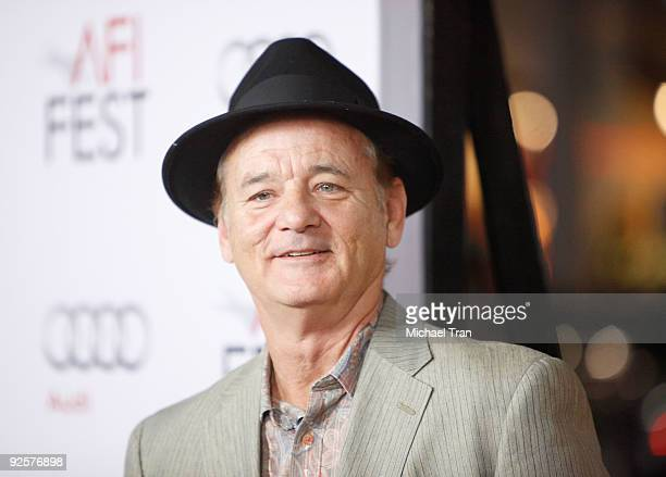 Bill Murray arrives to the 2009 AFI Festival opening night featuring 'Fantastic Mr Fox' held at Grauman's Chinese Theatre on October 30 2009 in...