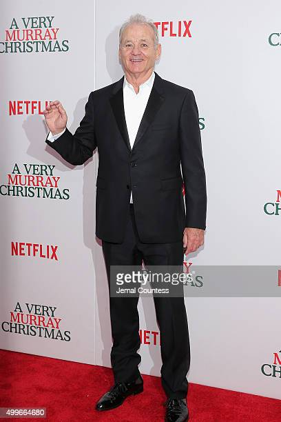 Bill Murray attends the 'A Very Murray Christmas' New York Premiere at Paris Theater on December 2 2015 in New York City