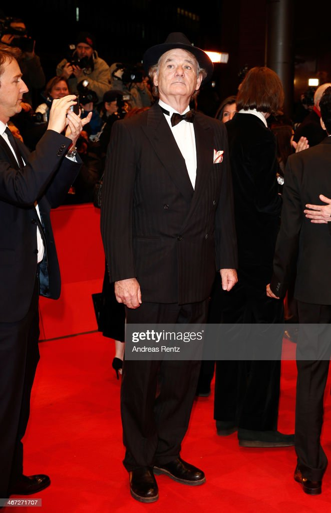 <a gi-track='captionPersonalityLinkClicked' href=/galleries/search?phrase=Bill+Murray&family=editorial&specificpeople=171116 ng-click='$event.stopPropagation()'>Bill Murray</a> attends 'The Grand Budapest Hotel' Premiere and opening ceremony during the 64th Berlinale International Film Festival at Berlinale Palast on February 6, 2014 in Berlin, Germany.