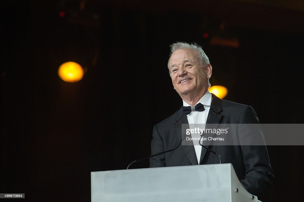 <a gi-track='captionPersonalityLinkClicked' href=/galleries/search?phrase=Bill+Murray&family=editorial&specificpeople=171116 ng-click='$event.stopPropagation()'>Bill Murray</a> attends the Tribute To <a gi-track='captionPersonalityLinkClicked' href=/galleries/search?phrase=Bill+Murray&family=editorial&specificpeople=171116 ng-click='$event.stopPropagation()'>Bill Murray</a> during the 15th Marrakech International Film Festival on December 4, 2015 in Marrakech, Morocco.