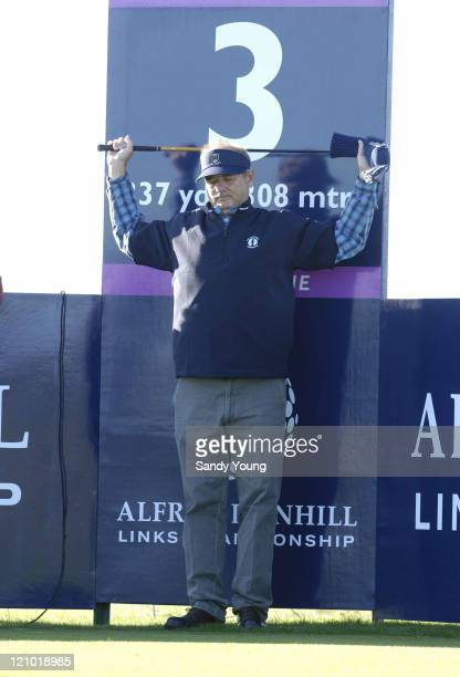 Bill Murray during the third round of the 2006 Alfred Dunhill Links Championship held on the Kingsbarns Golf Links in Kingsbarns Scotland on October...