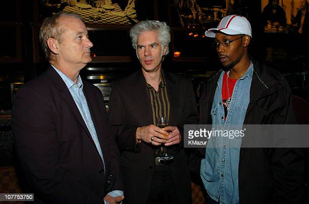 Bill Murray Jim Jarmusch and RZA during 3rd Annual Tribeca Film Festival 'Coffee and Cigarettes' After Party at City Hall Restaurant in New York City...