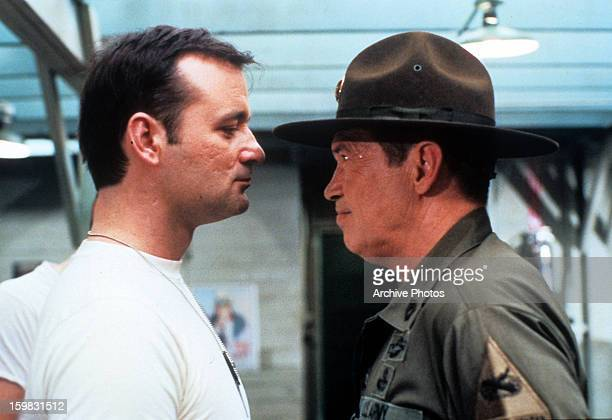 Bill Murray looks at Warren Oates in a scene from the film 'Stripes' 1981