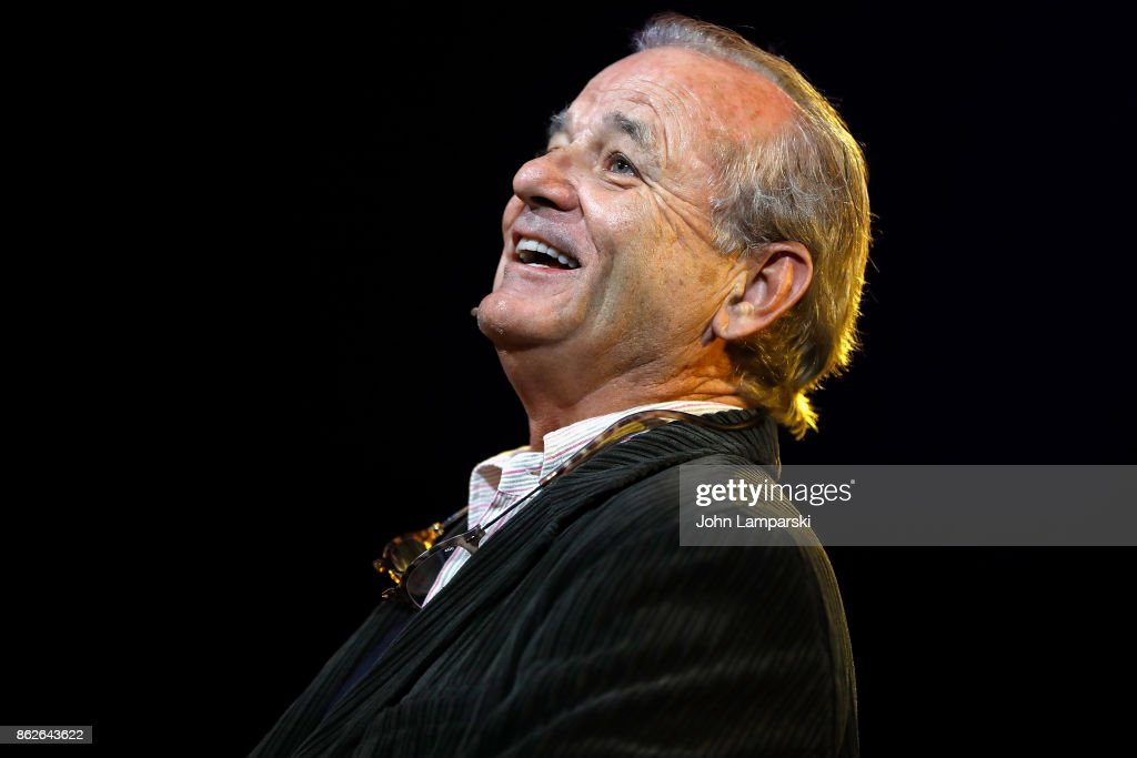 Bill Murray performs during the T.J. Martell 42nd Annual New York Honors Gala at Guastavino's on October 17, 2017 in New York City.