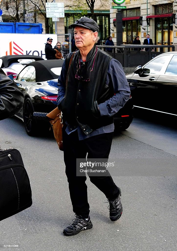 Bill Murray sighted at the Adlon Hotel on April 17 2016 in Berlin Germany