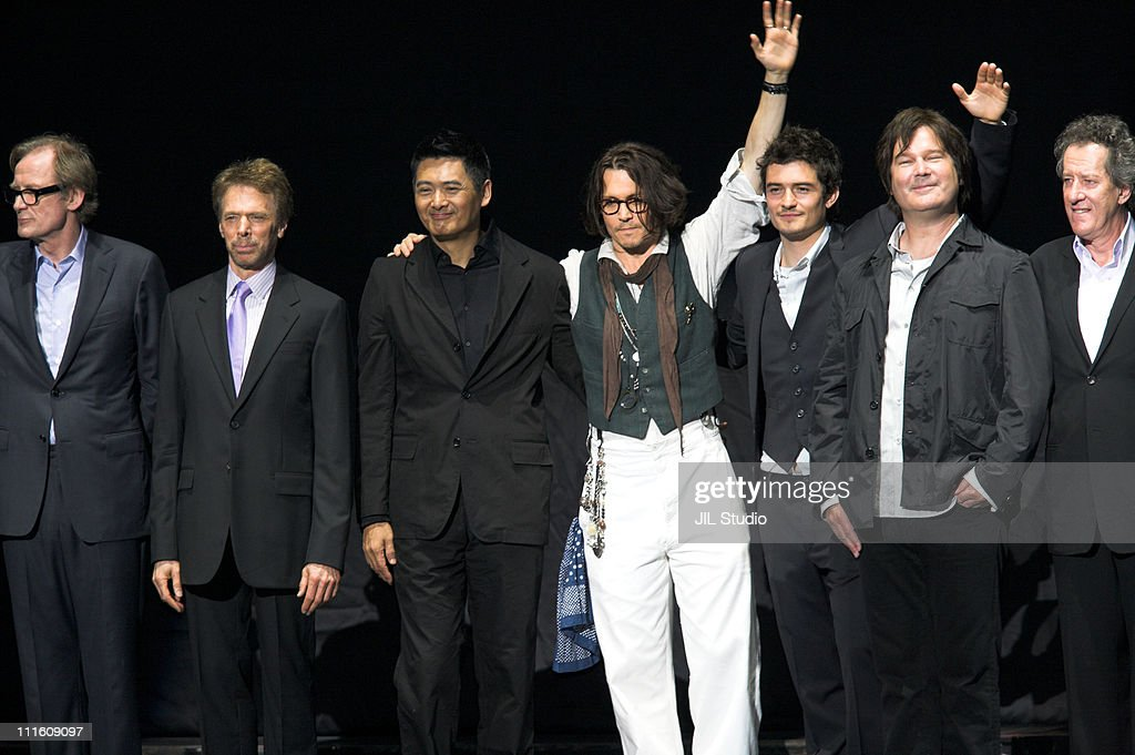 Bill Nigh Jerry Bruckheimer Producer YunFat Chow Johnny Depp Orlando Bloom and Gore Verbinski Director